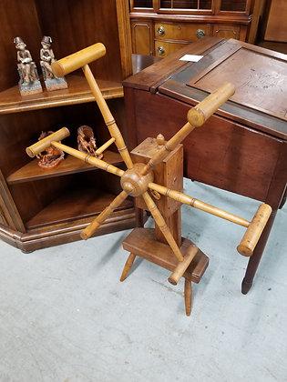 Antique Primitive Wood Spinning Yarn Winder