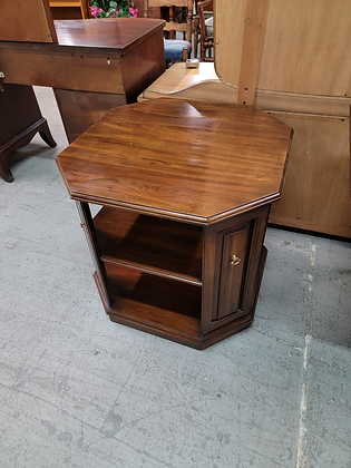 Harden Cherry Wood Octagon Accent Table Stand