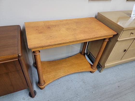Two Tier Oak Wood Hallway Table / Sofa Table