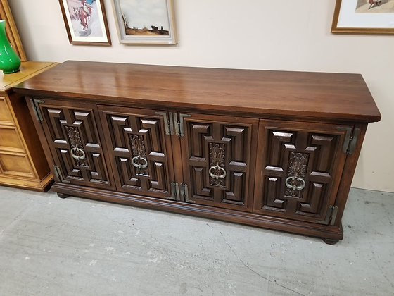 Wide Dark Wood Dresser with Six Drawers & Four Doors