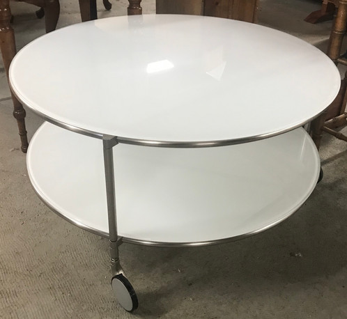 Ikea Strind Contemporary Round White Coffee Table - Strind coffee table