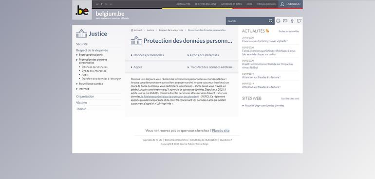 Site belge RGPD