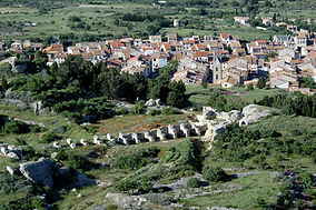 Vue du village depuis le château de Leucate