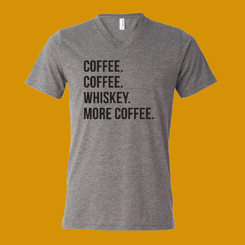 Coffee-Whiskey V-Neck T