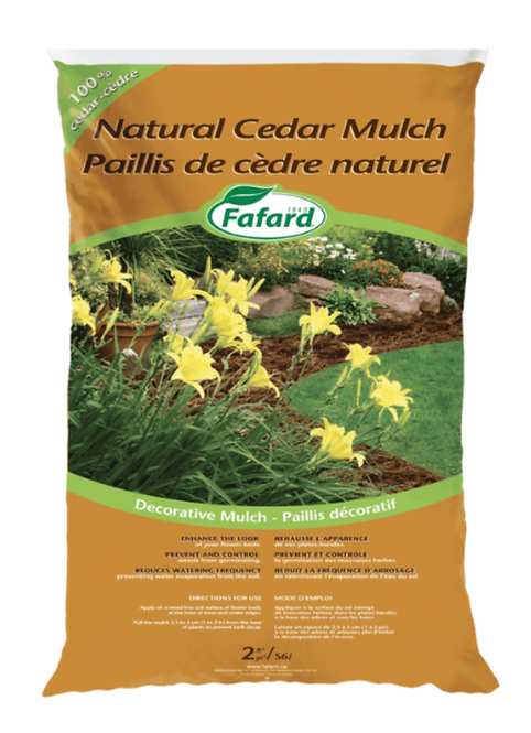 Fafard Cedar Mulch 2 cft. - Natural (SB,LO)