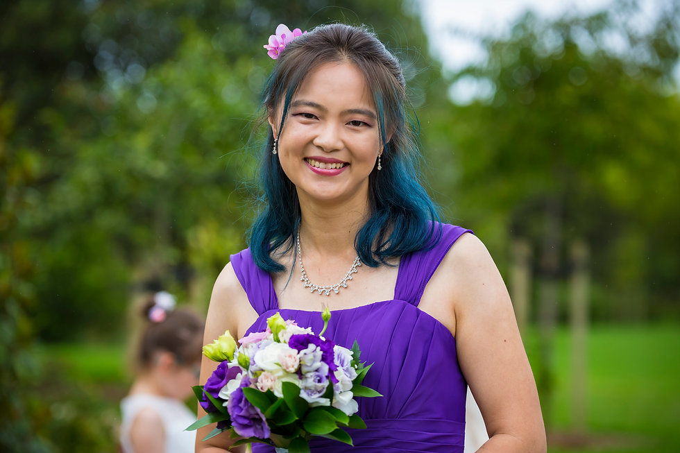 Asian Bridesmaids in New Zealand Kiwi Wedding