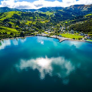 Akaroa City Aerial View