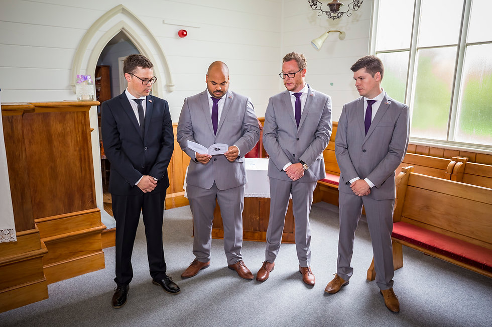 Kiwi groom and bestmen in auckand