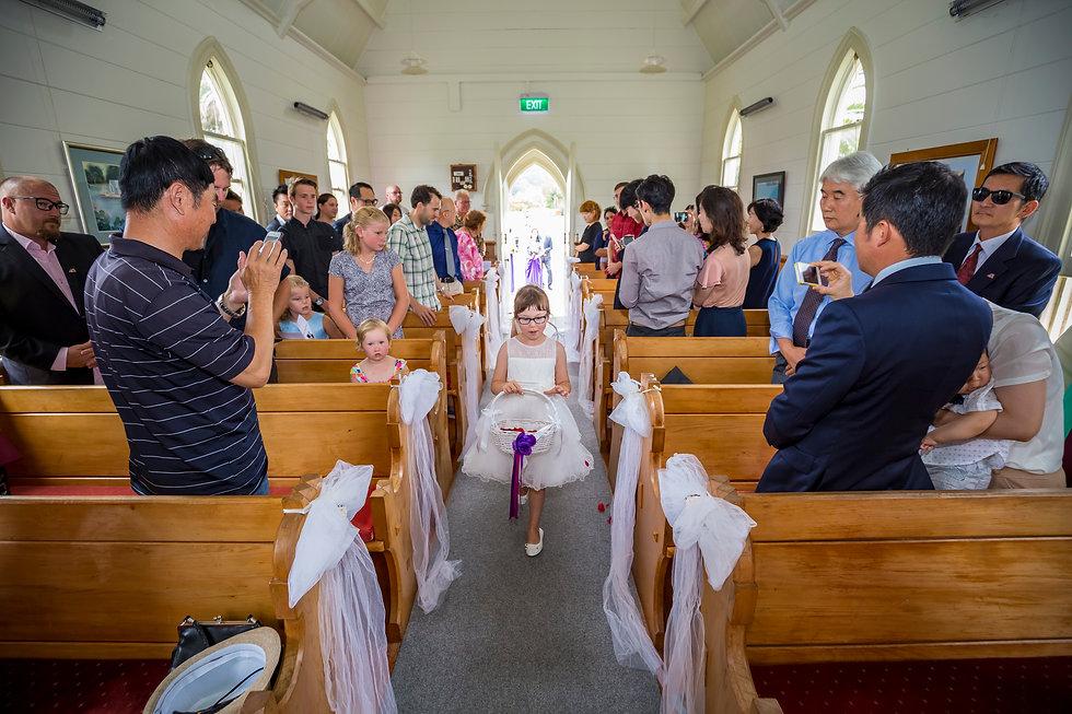 Kiwi wedding in Matakana Church Auckland