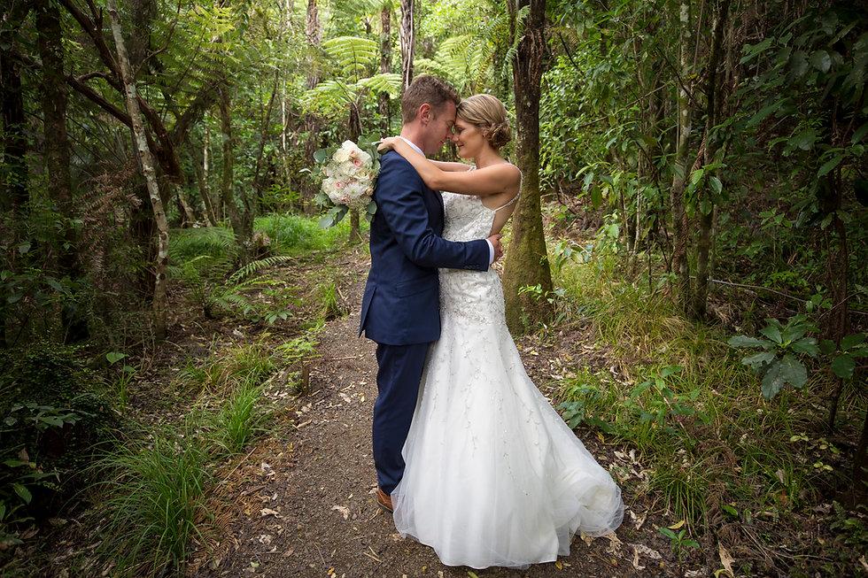 Hunua Falls Bride & Groom