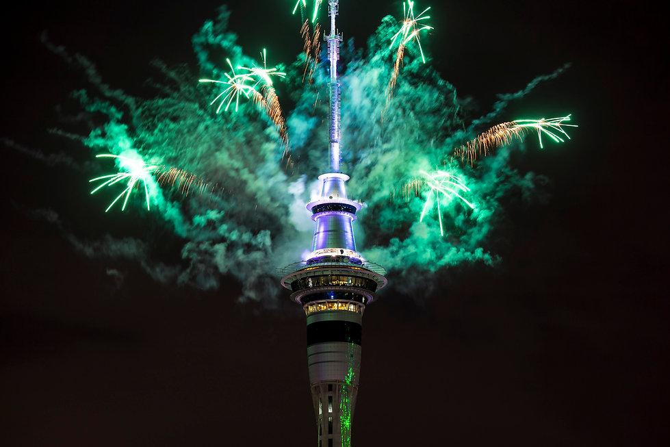 Auckland Skytower Fireworks