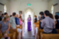 Kiwi wedding in Matakana Church Auckland