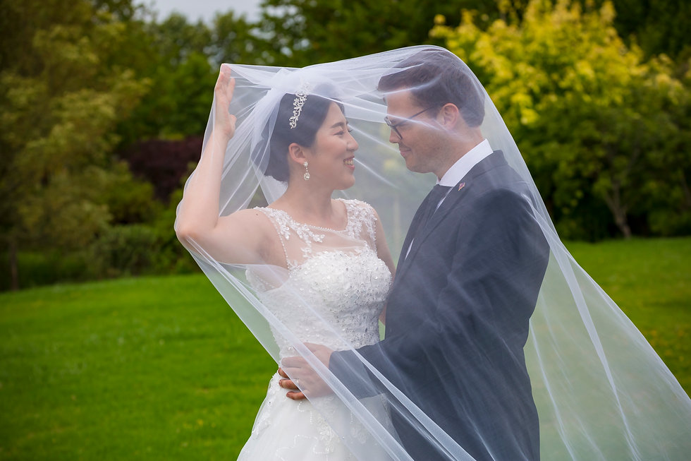 Korean Bride and Kiwi Groom in Matakana