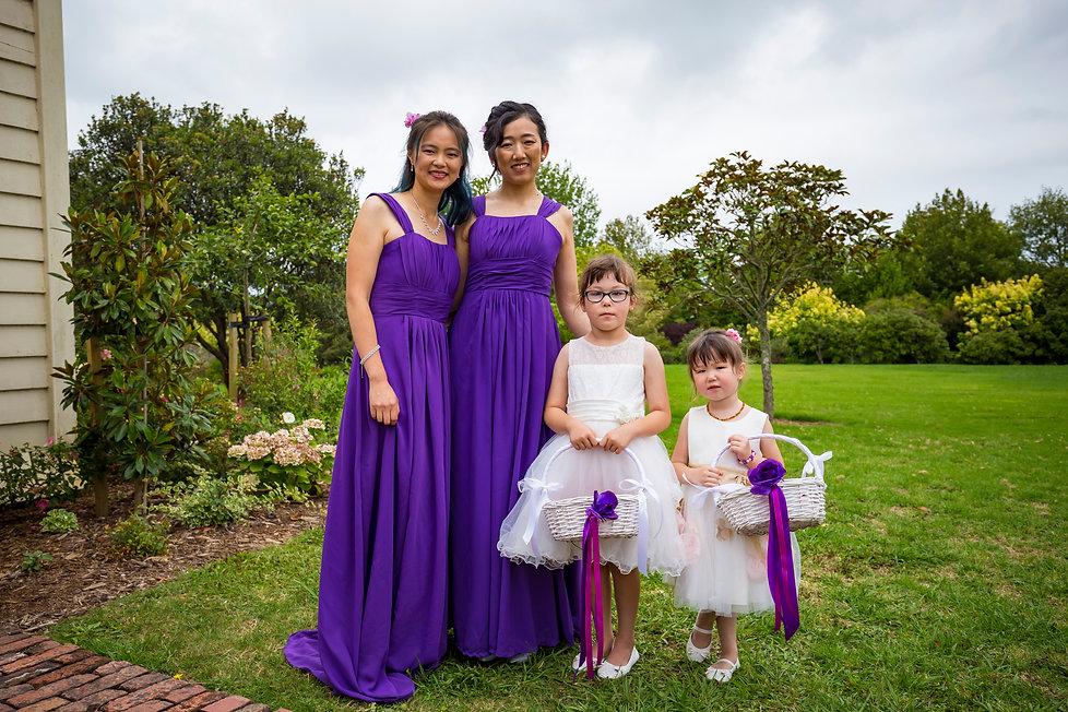 Asian Bridesmaids in an Auckland Kiwi Wedding