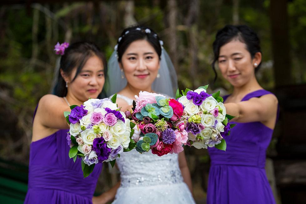 Asian Bridesmaids Auckland Kiwi Wedding Photography