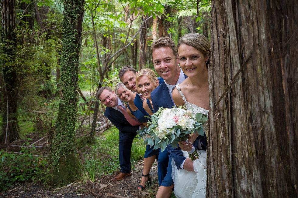 Kiwi wedding in Hunua Falls
