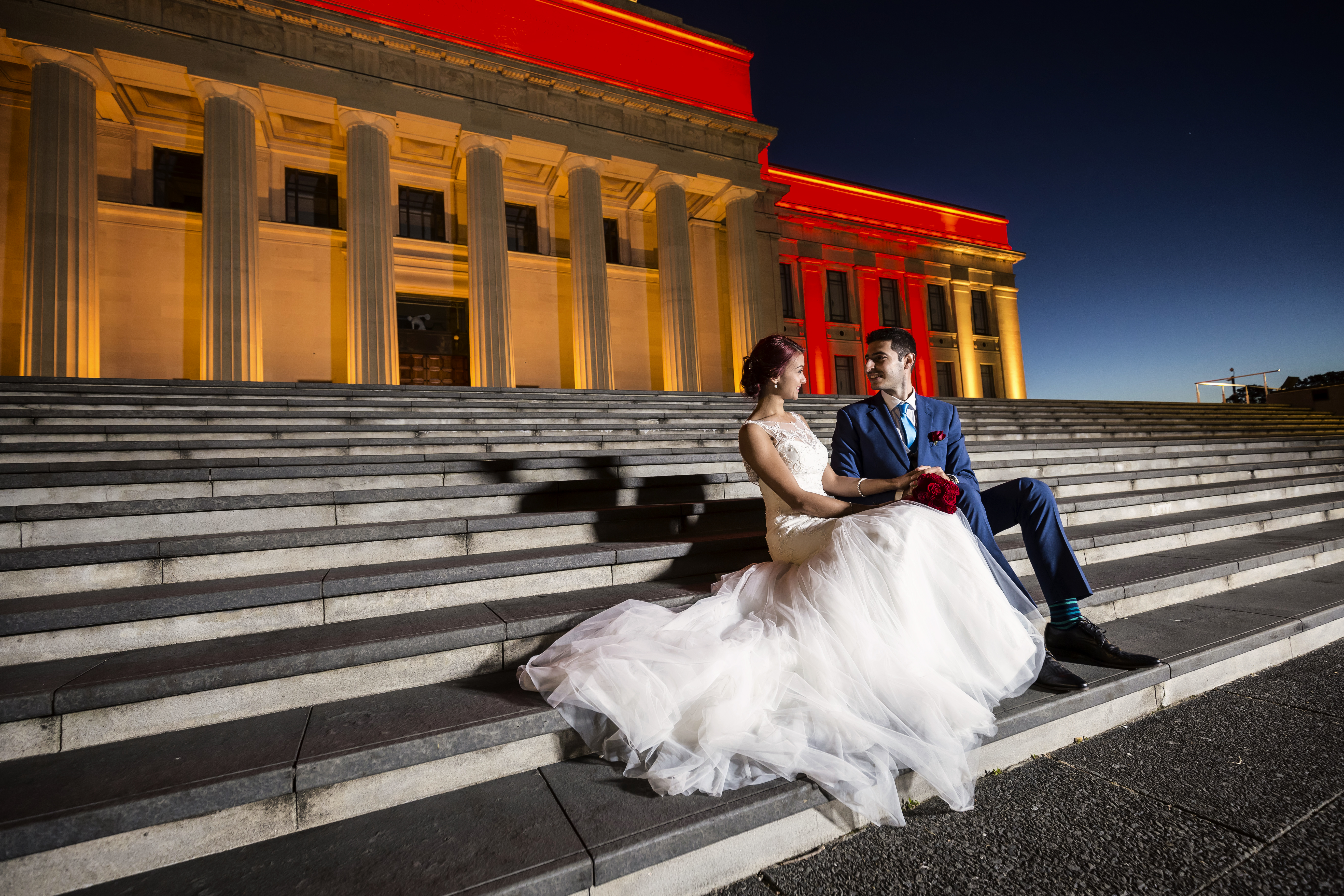 Bridal Photography in Aucklan Museum