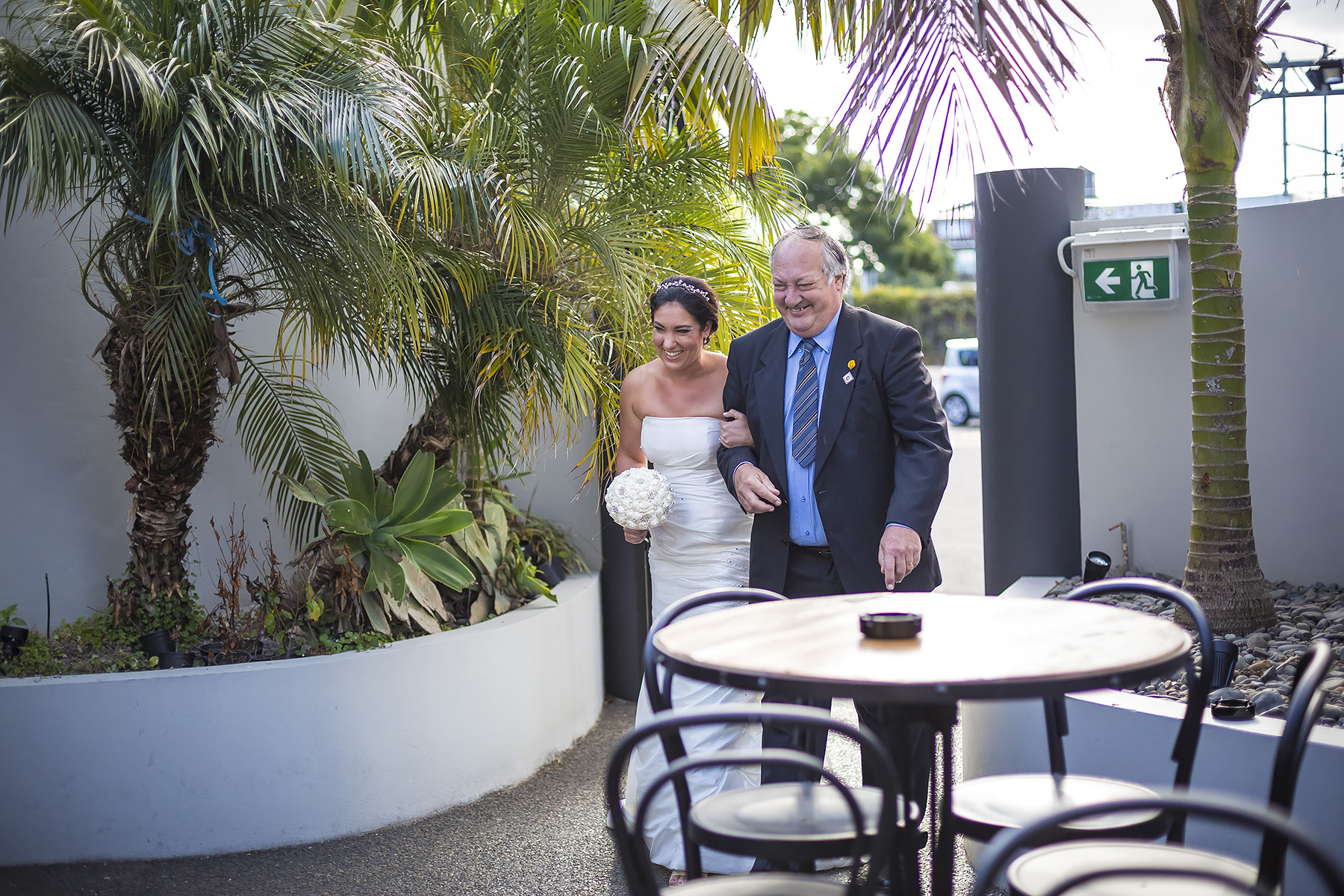 Kiwi Bride and her father Auckland