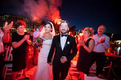 Soccer wedding bride and groom
