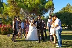 Turkish Wedding Popping Champagne