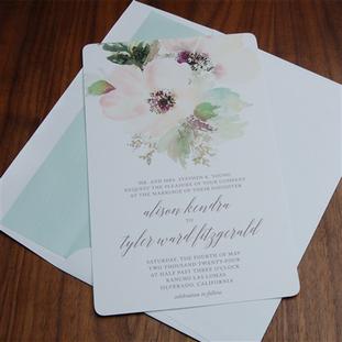 Tivoli wedding invitation by Checkerboar