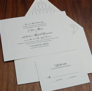 Urbane wedding invitation by Checkerboar