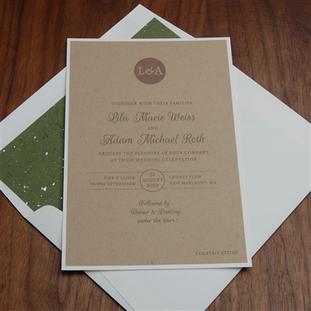 Origin wedding invitation by Checkerboar