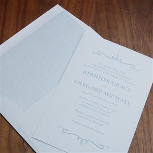 Rosa wedding invitation by Checkerboard