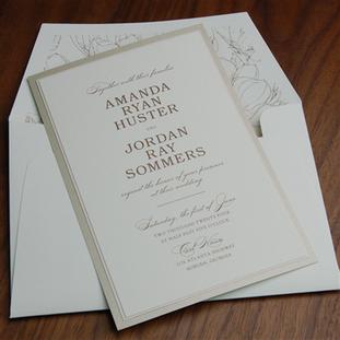 Antebellum wedding invitation by Checker