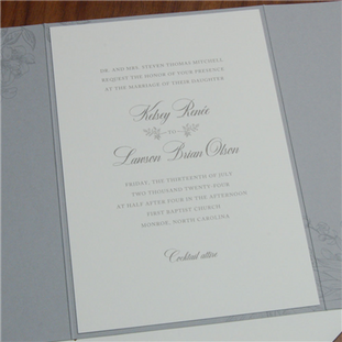 Rosemary wedding invitation by Checkerbo