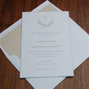 Daphne wedding invitation by Checkerboar