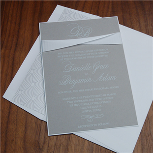 Contemporary wedding invitation by Check