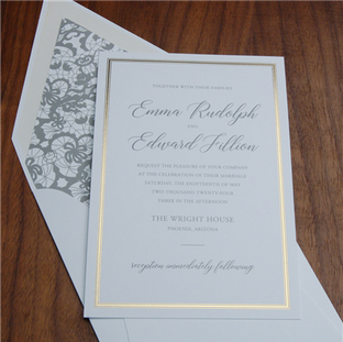 Estate wedding invitation by Checkerboar