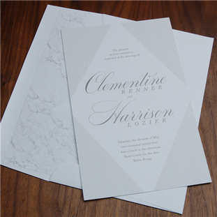 Luna wedding invitation by Checkerboard