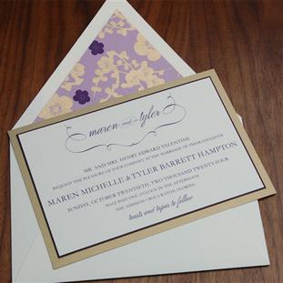 Addison wedding invitation by Checkerboa