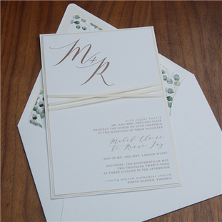 Tranquil wedding invitation by Checkerbo