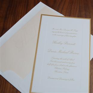 Chateau wedding invitation by Checkerboa