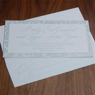 Athenaeum wedding invitation by Checkerb