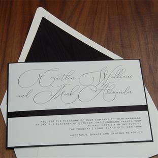 Foundry wedding invitation by Checkerboa