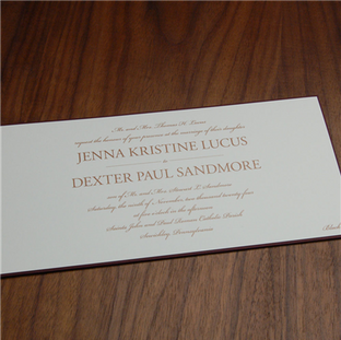 Romandy wedding invitation by Checkerboa