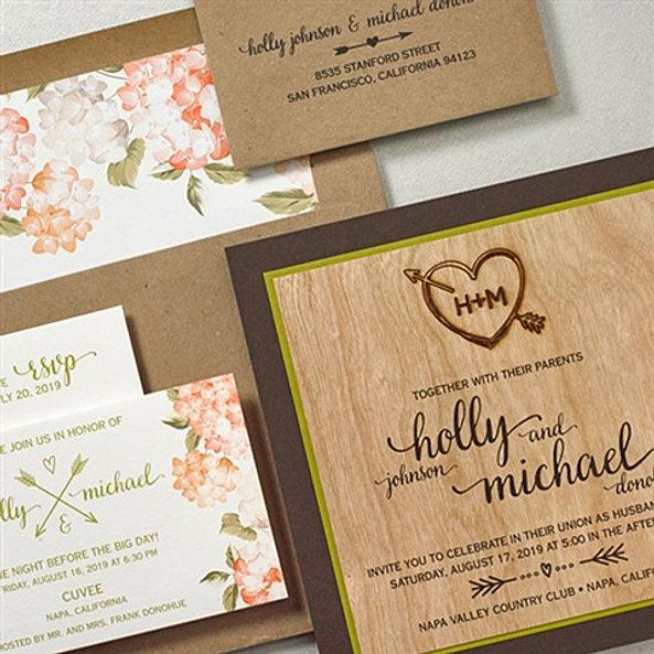 Paper Passionista Seattle Wedding Event Invitations