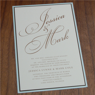 Shoreline wedding invitation by Checkerb