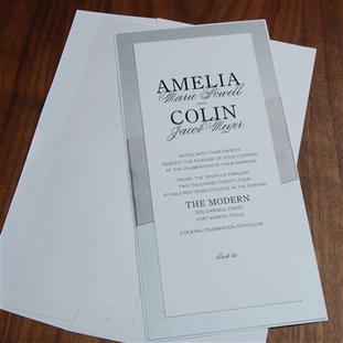 Villanelle wedding invitation by Checker