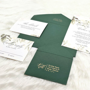 Massachusetts-Eden wedding invitation by Charu