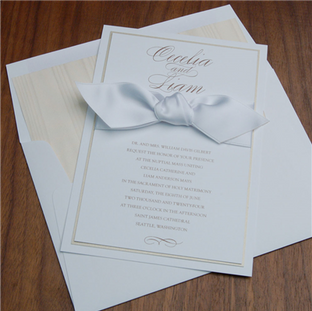 Alabaster wedding invitation by Checkerb