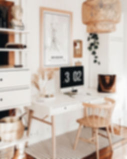 Clean And Bright, Boho Home Office Inspi