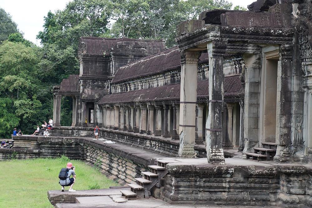 Angkor Vat on täynnä kuvauksellisuutta.
