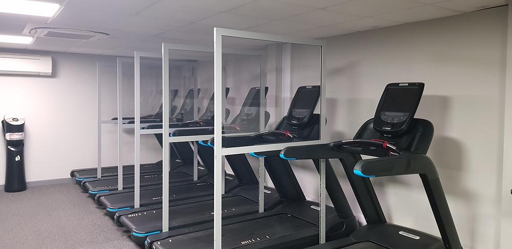CGT Gym Screens Seperating Treadmills