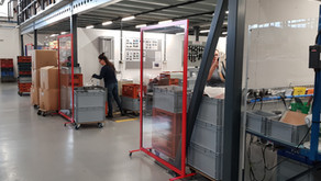 CGT Industrial Screens Provide Protection in Production Facility