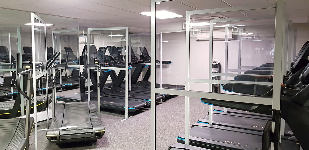 Social Distancing Screens for Gyms